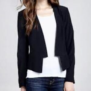 NWT Charlie Jade Cropped Tuxedo Blazer Black/Pink